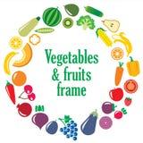 套蔬菜和水果框架 免版税库存图片