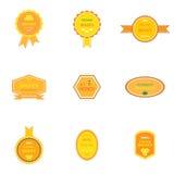 套蜂蜜产品的标签 免版税库存图片