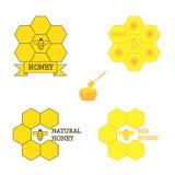 套蜂蜜标签 免版税库存照片