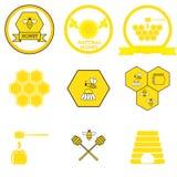 套蜂蜜标签 库存图片