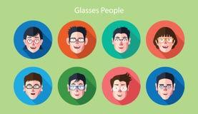 套表示玻璃具体化平的象 免版税库存图片