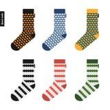 套袜子原始的行家设计 库存图片