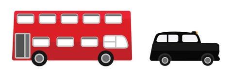 套被切开的动画片车与伦敦和英国关连 免版税图库摄影