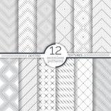 套被加点的无缝的样式 抽象鞋带背景 与规则重复几何形状的现代小被加点的纹理 免版税库存照片