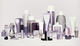 套装饰化妆用品 粉末, concealer,眼影刷子 库存照片