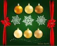 套装饰的圣诞节和新年元素 2007个看板卡招呼的新年好 皇族释放例证