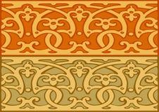 3套装饰边界葡萄酒样式金子 免版税库存图片