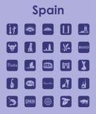 套西班牙简单的象 向量例证