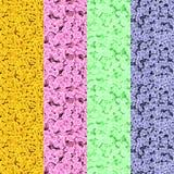 套计算机生成的微观结构 库存图片