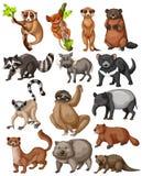套许多野生动物 库存例证