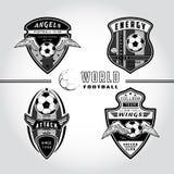 套足球徽章商标 库存图片