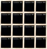 套路线的黑板 库存照片
