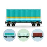套运货车的不同的类型象, 向量例证