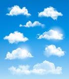 套透明不同的云彩。 皇族释放例证