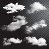 套透明不同的云彩 也corel凹道例证向量 皇族释放例证