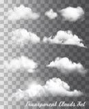 套透明不同的云彩 库存例证