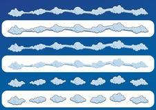 套逗人喜爱的云彩 也corel凹道例证向量 免版税库存照片