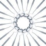 套金属为牙的医疗设备工具 免版税图库摄影