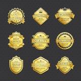 套金黄标签最佳的挑选优质质量 皇族释放例证