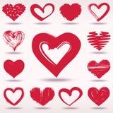 套难看的东西传染媒介心脏爱题材 免版税库存照片