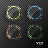 套霓虹圈子,不同的颜色 向量例证