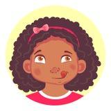 套非洲女孩情感 皇族释放例证