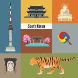 套韩国国家标志 皇族释放例证