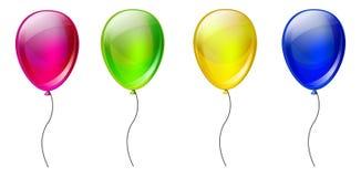 套颜色气球 皇族释放例证