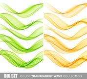 套颜色透明发烟性波浪 图库摄影