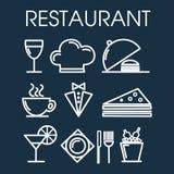 套餐馆线象 免版税库存照片