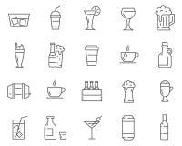 套饮料和饮料排行传染媒介象 皇族释放例证