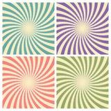 套马戏图表半径作用减速火箭绿色,蓝色,紫色,红色和浅褐色与可笑的背景的中间影调 向量例证