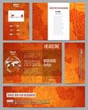 套介绍、小册子、飞行物或者小册子的企业模板 背景中国新年度 向量例证