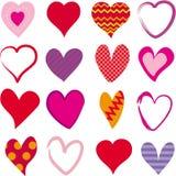 套16不同心脏 库存图片
