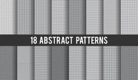套18个传染媒介无缝的抽象样式 向量例证