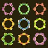 套9个圆的框架 库存图片