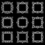 套9个方形的框架 免版税库存照片