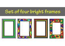 套4个明亮的框架 免版税库存照片