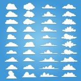 套40个样式云彩 免版税库存图片