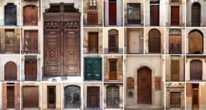 套32个老门和门 库存图片