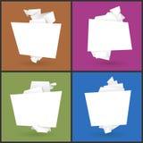 套4副origami纸横幅 库存图片