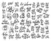 套50只手书面信关于出生的家庭和婴孩 皇族释放例证