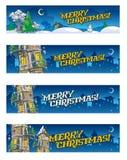 套4圣诞节baners 免版税库存图片