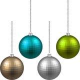 套织地不很细现实圣诞节球 向量例证