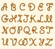 套绳索字体拉丁字母 向量例证