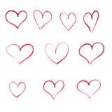 套水彩心脏框架 库存例证