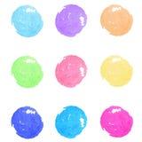 套水彩油漆圈子 10个背景设计eps技术向量 免版税库存图片
