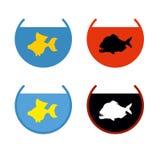 套水族馆鱼 在水族馆的金鱼 鱼履行des 免版税库存图片