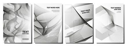 套4最小的抽象图表盖子设计 简单的海报t 向量例证