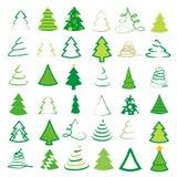 套36棵不同树 免版税图库摄影